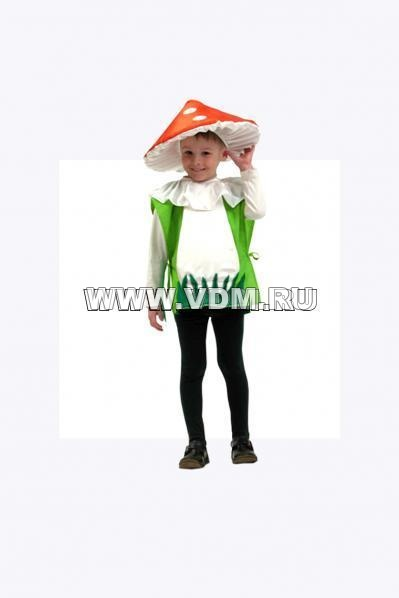 Шапка гриб для ребенка